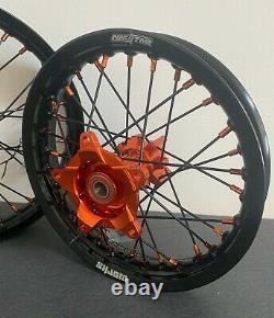 2016-2021 KTM SX 65 Motocross Wheels Rims Black Orange Complete