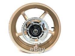 2016 Yamaha R6 OEM Complete Rear Wheel Rim Brake Rotor Sprocket GOLD! YZF-R6