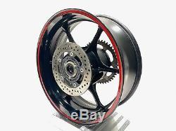 2017 Suzuki GSXR 1000 OEM Complete Rear Wheel Rim Brake Rotor Discs Sprocket