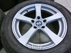 4x complete wheels Aluminum rim winter tires 245/55R17 5X120 5.4-6.8mm
