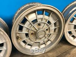 79-80 Mazda RX7 Waffle Wheels Complete Set Rims 13x5.5 4x110mm