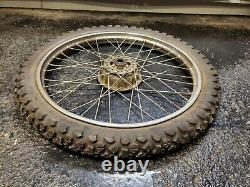 83 Honda XL185 XL185S XL 185 S original COMPLETE front WHEEL rim tire hub drum