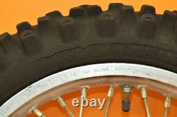 88-91 1990 CR80 CR 80 Front Rear Wheels Complete Set Hub Rim Tire Assembly A
