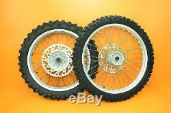 92-95 1993 YZ125 YZ 125 Front Rear Wheel Complete Set Rim Hub Spokes Tire A