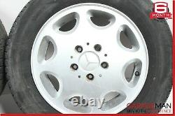 93-95 Mercedes W124 E300 E320 Complete Wheel Tire Rim Set of 4 Pc 6.5Jx15H2 ET44