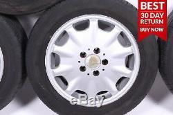 95-02 Mercedes W210 E320 E420 Front & Rear Right & Left Wheel Tire Rim Set A62