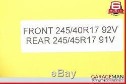 97-04 Mercedes R170 SLK320 Complete Front & Rear Wheel Tire Rim Set OEM
