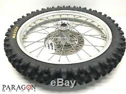 98#10 96-08 Honda CR80 CR85 CR 80 85 Complete Front Wheel Rim Tire Hub 17