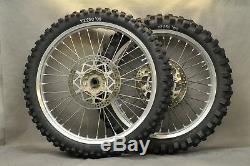 99-01 Yamaha YZ250 YZ 250 Complete Front Rear Wheel Tire Rim Hub Takasago Excel