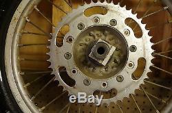 99 Yamaha Yz125 Oem Rear Wheel Rim Tire Assy Complete Yz 125