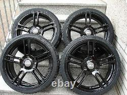 Aluminium Rim Complete Wheels Tyre Smart Fortwo 451 DBV Mauritius 17´´ Black