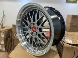 BBS LM Style Wheel 5x112 18x8 ET35 Complete Set Grey Center