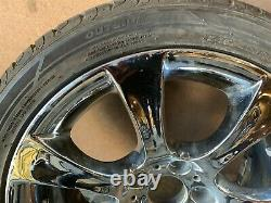 BMW E60 E61 STYLE 185 CHROME 18 INCH SPORT FRONT WHEEL RIM With TIRE #5 OEM #013