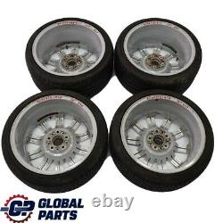 BMW E60 E61 Silver Set Complete 4x Wheel Rim with Tyres 19 M Double Spoke 172