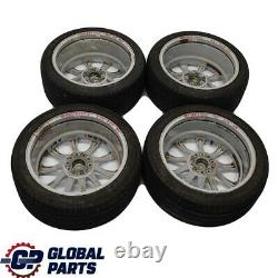 BMW E60 M5 Silver Set Complete 4x Wheel Rim with Tyres 19 M Radial Spoke 166