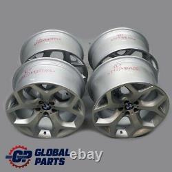 BMW X5 E70 Silver Complete Set 4x Alloy Wheel Rim 20 10J 11J ET40 Y-Spoke 214