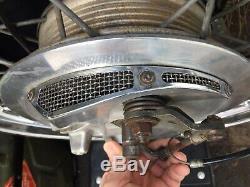 Bsa Triumph Twin Leading Shoe Front Wheel Complete, Dunlop Rim