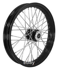Complete Black 23x 3.00 Front 40 Spoke Wheel For Harley Touring Models 00/07