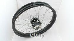 Complete Black 23x3.00 Front 40 Spoke Wheel For Harley Touring 2008/later