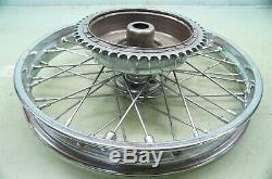 Complete Chrome Rear Star Hub Wheel Rim Harley Panhead Knucklehead Chopper