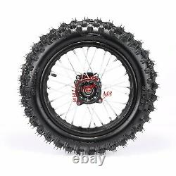 Complete Front +Rear 60/100- 14 80/100-12 Wheel Rim+Tire+Tube For Dirt Pit Bike