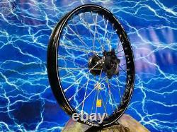 Complete Front Wheel Excel Black Rim OEM A60 Billet Hub Spoke Assembly 125-450