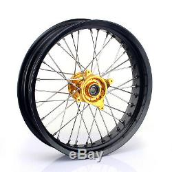 Complete Wheel Rim Hub RMZ 250 05-19 RM-Z 450 07-19 Supermoto 3.5 4.25 17 Spoke
