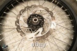 Complete Wheel Set Kawasaki DID Hub Spoke Black Rim Kit Assembly 19 rear 21 inch