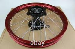 Dna X-series 19x1.85 Complete Rear Wheel Red/black Part # Mx-198h23rbk