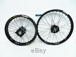 Dubya Complete Front & Rear Big Wheel Set Talon Hub Black Excel Rim Yamaha YZ85