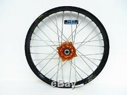 Dubya Complete Front Wheel Orange Talon Hub Black Excel Rim KTM 85 19 x 1.40