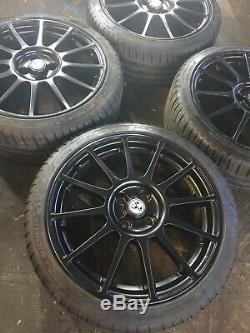 Fiat 500 17 595 Essesse Top Super Complete Alloy Wheel Set And Tyres Genuine