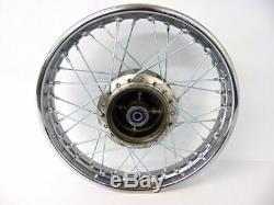 For Honda 1985-Up CRF 100 XR 100 CRF100 XR100 Rear Wheel Rim Spokes 16 Complete