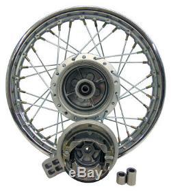 For Honda 85-up CRF80 XR80 14 Complete Rear Rim Wheel Assembly Brakes& Sprocket