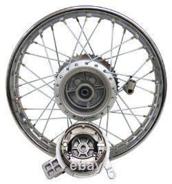 For Honda CRF100 XR100 16 Complete Rear Rim Wheel Assembly Brakes & Sprocket