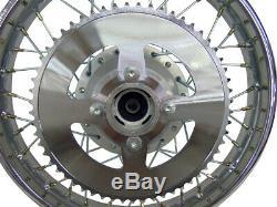 For Kawasaki 03-06 KLX125 14 Complete Rear Rim Wheel Assembly Brakes & Sprocket