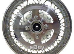 For Suzuki 03-Up DRZ 125 14 Complete Rear Rim Wheel Assembly Brakes & Sprocket