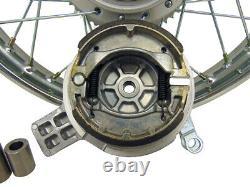 For Suzuki 03-Up DRZ 125 16 Complete Rear Rim Wheel Assembly Brakes & Sprocket