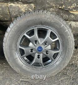 Ford Transit Mk8 16 Alloy Wheels Complete Set Refurbed Grey Custom Etc Genuine