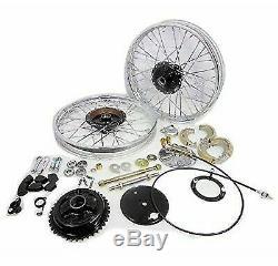 Front & Rear Half Width Wheel Rim Brake Assembly Complete Set Royal Enfield