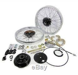 Front & Rear Half Width Wheel Rim Brake Assey Complete Set For Royal Enfield GEc