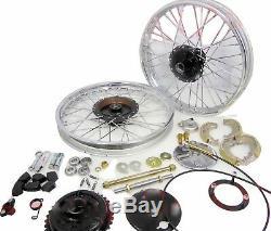 Front & Rear Half Width Wheel Rim Brake Assey Complete Set for Royal Enfied S2u