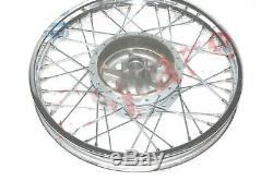 Front Wheel Rim With 7'' Complete Hub Drum Polished for Royal Enfield Norton S2u