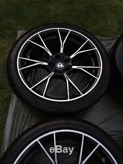 Genuine 20 Bmw M5 F90 789m Competition Alloy Wheels In Shadow Black Complete