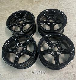 Genuine BMW 654 16 Alloy Wheels GLOSS BLACK (COMPLETE SET) 1 Series
