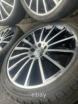 Genuine Mercedes Amg 19 Turbine Alloy Wheels Complete Set C E S Class C63