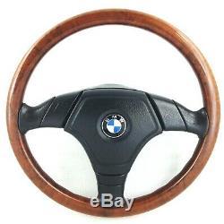 Genuine Nardi BMW E36 wood rim complete steering wheel. Rare original OEM. 15D