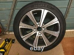 Genuine Peugeot 308 Alloy Wheel 17 Unused Diamond Cut. Complete With Tyre