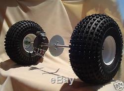 Go Kart Rear Axle Tire Wheel RIM BRAKE SPROCKET COMPLETE