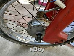Honda 1965 complete CT200 TRAIL 90 Used Front Wheel Rim brake assembly, axle